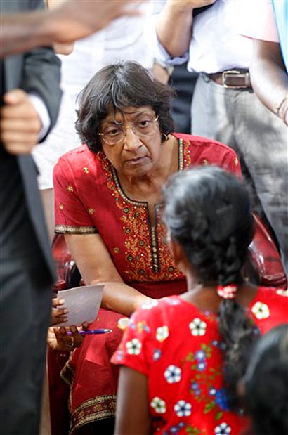 Navi Pillay visits former war zone