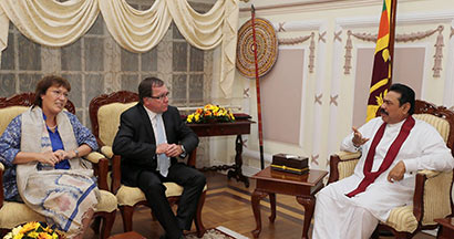 New Zealand Foreign Minister Calls on President Rajapaksa