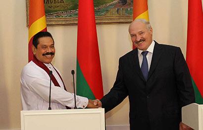 President Mahinda Rajapaksa and Belarus President Alexander Lukashenko