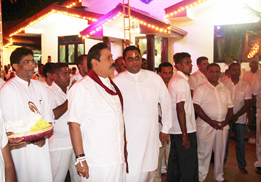 President Rajapaksa participates in the Annual Kataragama Festival