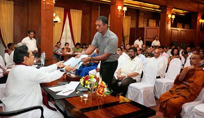 Sri Lanka President Mahinda Rajapaksa on Rathupaswala incident