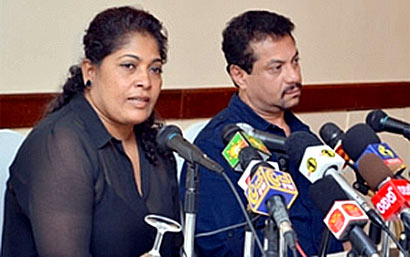 Rukantha and Chandralekha press conference