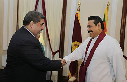 Iraq's Labor and Social Affairs Minister Mr. Nassar al-Rubaie called on President Mahinda Rajapaksa