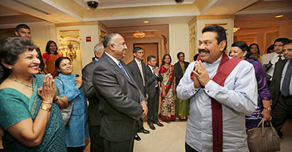 68th UN General Assembly: President Rajapaksa arrives in New York