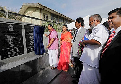 President Mahinda Rajapaksa inaugurated the Chunnakam Grid substation