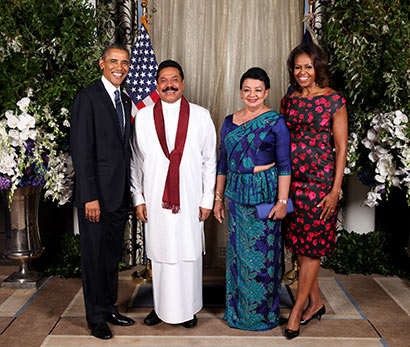 President Rajapaksa met US President Barack Obama and US First Lady