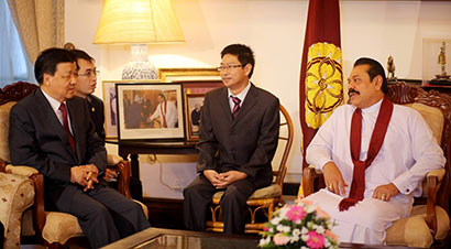 Political Bureau Member of the Standing Committee of the Communist Party of China (CPC) Mr. Liu Yunshan called on President Mahinda Rajapaksa at the President's House