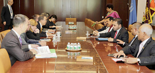 Sri Lanka President met Leaders of other countries at UN