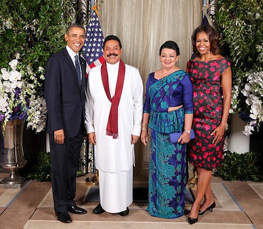 Sri Lanka President with US President
