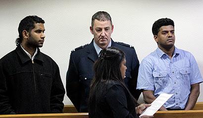 SENTENCED: Thuvan Prawesh Sawal and Mudiyanselage Viraj Wasantha Alahakoon appear in court for their sentencing.