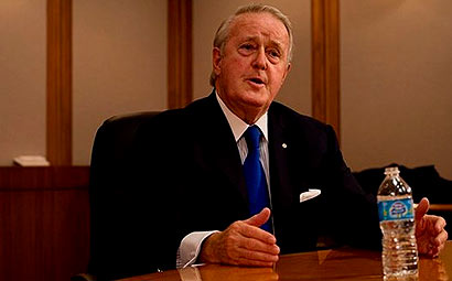 Canadian Prime Minister Brian Mulroney