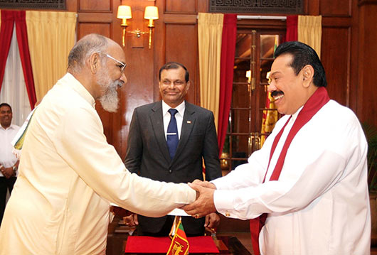 Two oath ceremonies for lucky Vigneswaran