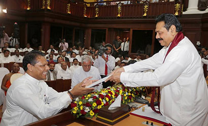 Mr. Dayasiri Jayasekara took oath as the Chief Minister of North Western Province