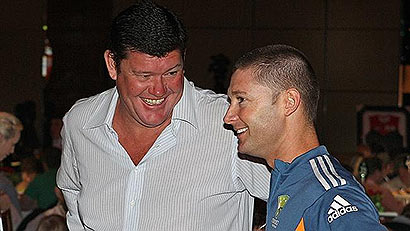 James Packer with Michael Clarke