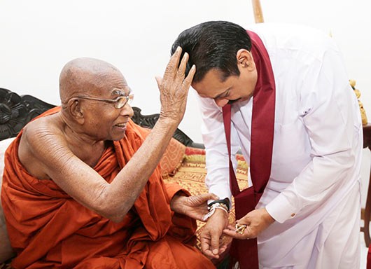 President felicitates Weligama Gnanarathana Thera on his 101st birthday