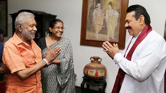 President Rajapaksa met Dr. Pilapitiya