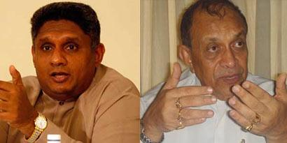 Sajith Premadasa and Karu Jayasuriya