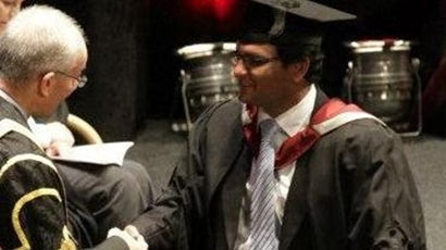 Murdered Thavisha Lakindu Peiris on his graduation day Credit: South Yorkshire Police