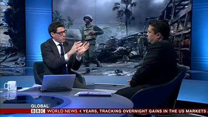 Chris Nonis with BBC