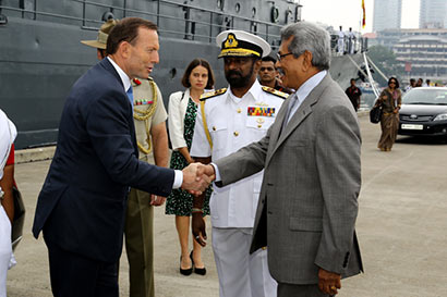 Prime Minister of Australia Mr. Tony Abbott met Secretary Defence and Urban Development Mr. Gotabaya Rajapaksa