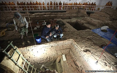 Earliest 'shrine' uncovered at Buddha's birthplace