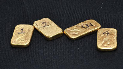 400g of gold seized at Madurai airport