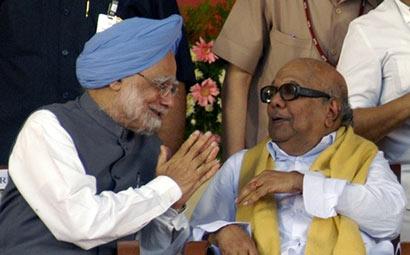 Manmohan Singh with Karunanidhi