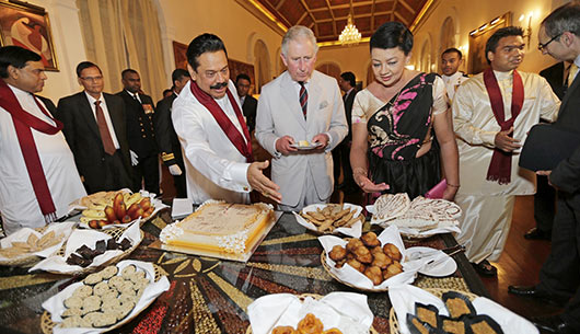 President Rajapaksa Hosts Prince Charles at President's House