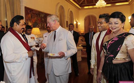 President Rajapaksa Hosts Prince Charles at President's House