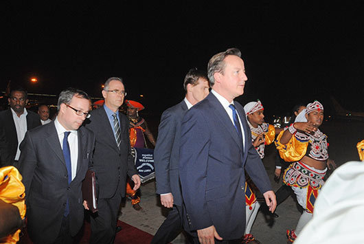 Prime Minister of the United Kingdom, Mr. David Cameron, arrived in Sri Lanka