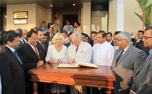Prince Charles arrives in Sri Lanka