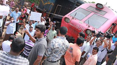 Protest Vs Callum Macrae Anuradhapura Railway Station