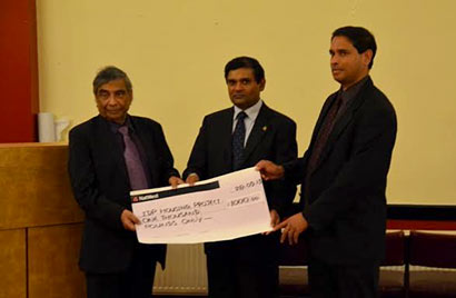 British Sri Lankan Forum donates £1000 for Resettlement Hosing Project of war victims in Sri Lanka