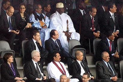 President Mahinda Rajapaksa attends memorial service for Nelson Mandela