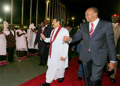 Sri Lanka President Mahinda Rajapaksa in Kenya