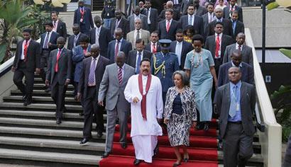 Sri Lanka President Mahinda Rajapaksa Visits UN Headquarters in Africa