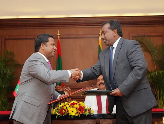 Agreements between Maldives and Sri Lanka