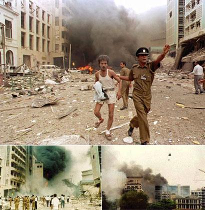 Sri Lanka Central Bank bomb attack on 31 Jan 1996