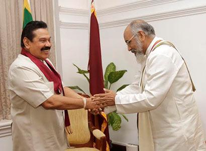 Chief Minister Wigneswaran meets President Rajapaksa