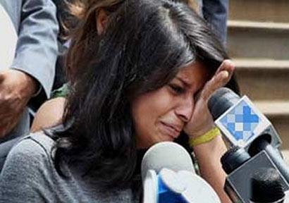 Devyani Khobragade crying