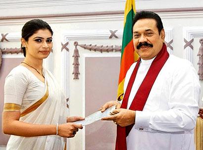 Hirunika Premachandra met President Mahinda Rajapaksa