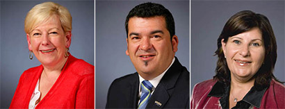 Members of the Parliament of Victoria Ms. Elizabeth (Liz) Jean Beattie, Mr. John Pandazopoulos and Ms. Marsha Rose Thomson