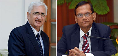 External Affairs Minister Salman Khurshid and his Sri Lankan counterpart G.L. Peiris