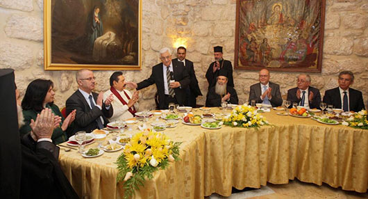 Sri Lanka President Mahinda Rajapaksa and First Lady Visit Church of the Nativity