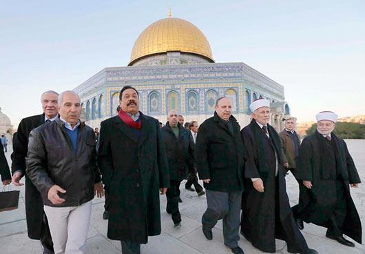 Sri Lanka President Rajapaksa visits historic religious sites in the Old City of Jerusalem