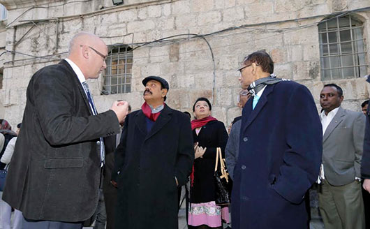 Sri Lanka President Rajapaksa visits historic religious sites in the Old City of Jerusalem