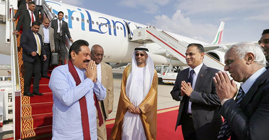 Sri Lanka President Rajapaksa arrives in UAE to attend 7th World Future Energy Summit