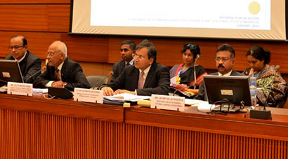 Secretary to the President Lalith Weeratunga who briefed Permanent Representatives to the United Nations in Geneva