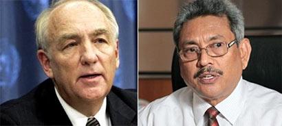 Stephen J Rapp and Gotabhaya Rajapaksa