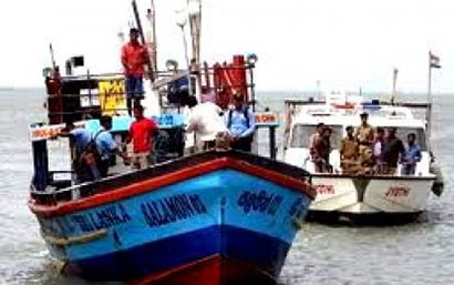 The Indian Coast Guard has arrested Sri Lankan fishermen